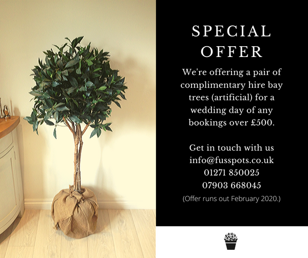Wedding hire special offer
