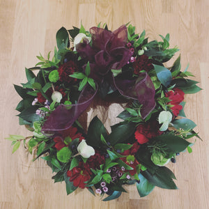 Small Fresh Christmas Wreath