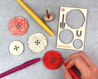Rose Spinning Top Kit