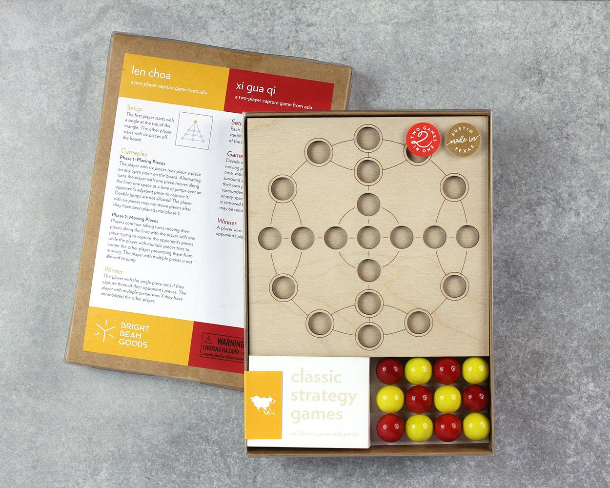 Asia marble game in packaging