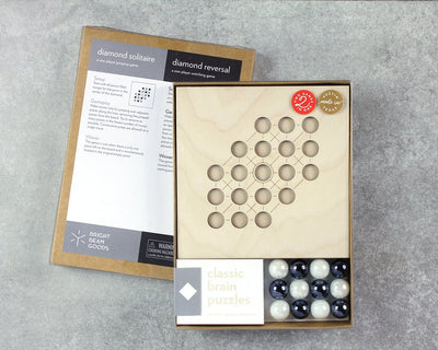 Diamond marble game in packaging