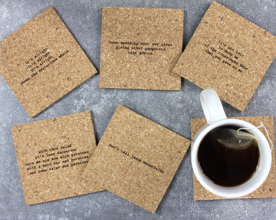 90s mistaken lyrics coasters unpackaged