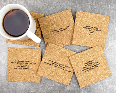 Boobs mistaken lyrics coasters unpackaged