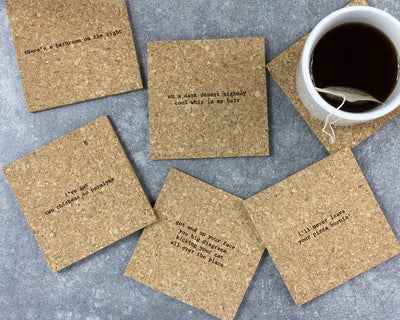Classic rock mistaken lyrics coasters unpackaged