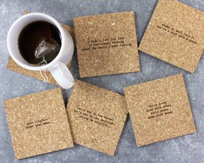Inappropriate mistaken lyrics coasters unpackaged