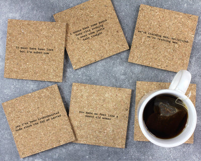 Ladies' night mistaken lyrics coasters unpackaged