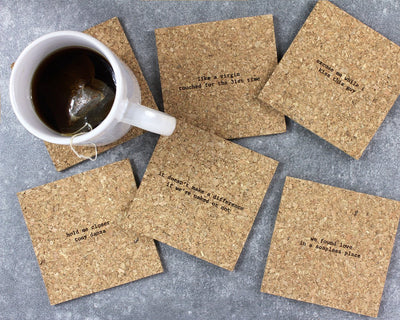 Love & feelings mistaken lyrics coasters unpackaged
