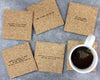 Mix-tape mistaken lyrics coasters unpackaged