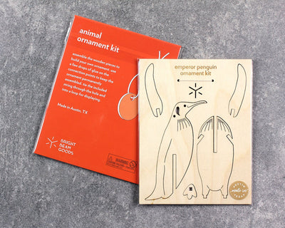 Packaged emperor penguin ornament kit
