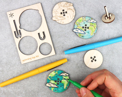 Earth Spinning Top Kit