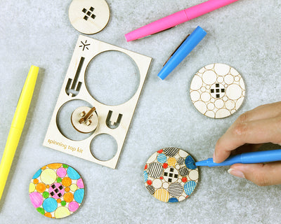 Bubble Spinning Top Kit