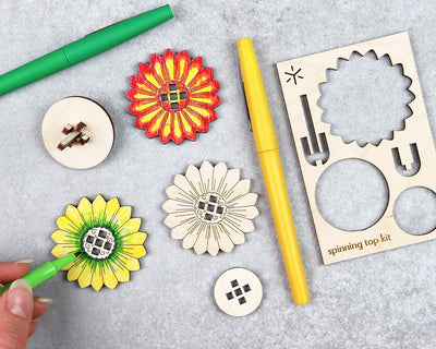 Daisy spinning top kit unpackaged