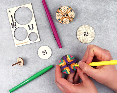 Geometric Spinning Top Kit Assortment