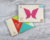 Butterfly tangram puzzle in packaging