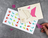 Unpackaged butterfly tangram puzzle