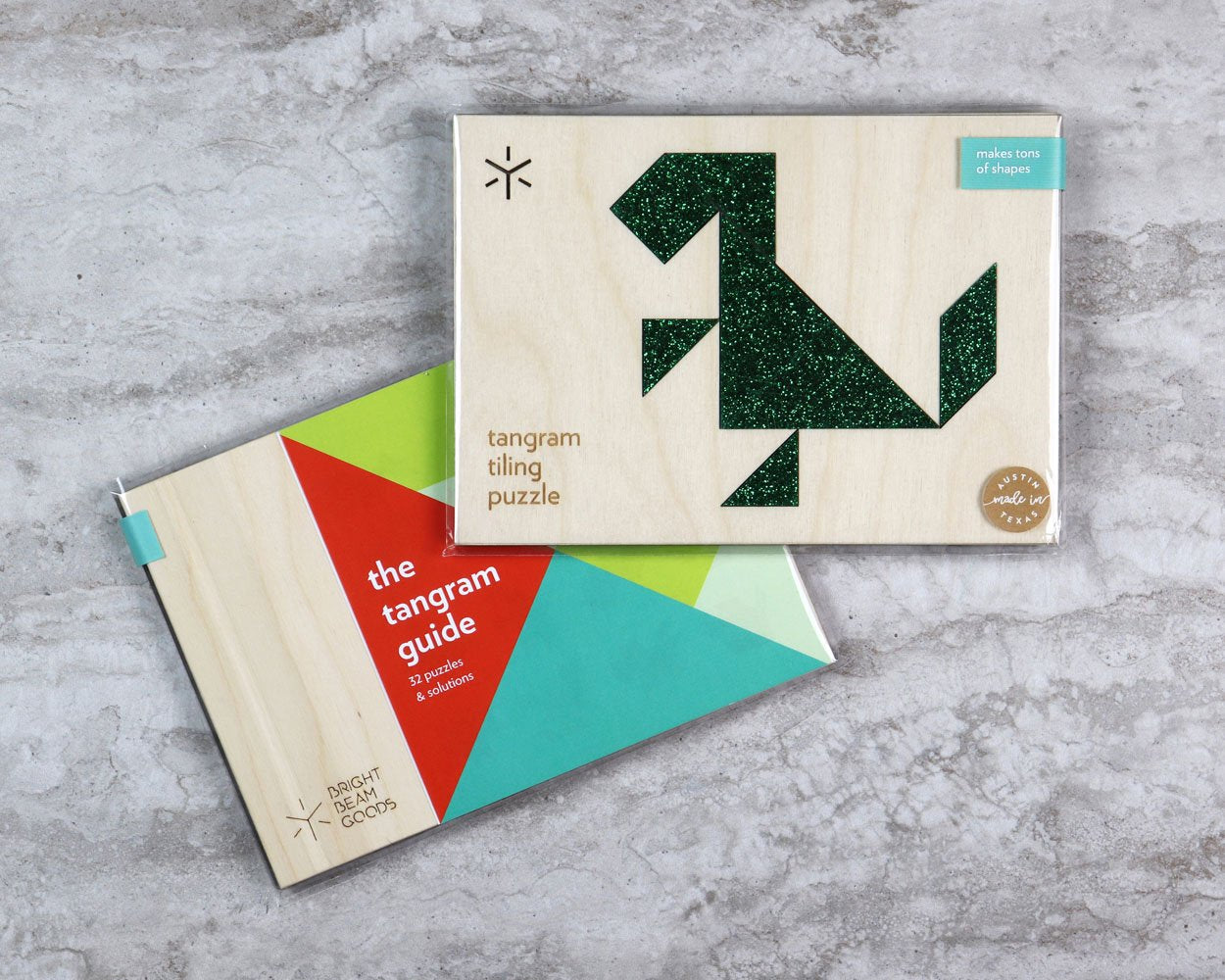 Dinosaur tangram puzzle in packaging