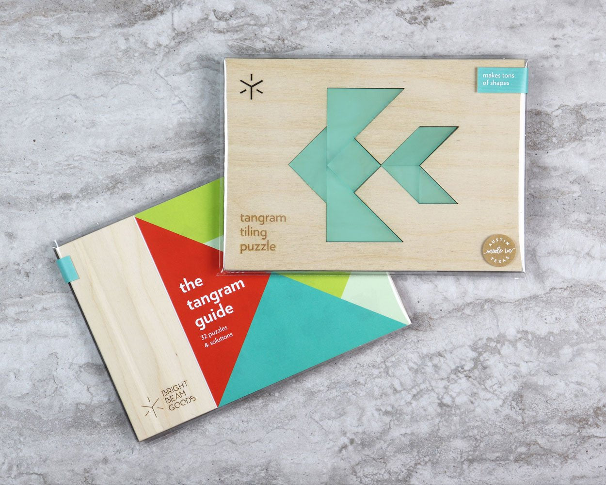Fish tangram puzzle in packaging