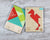 Flamingo tangram puzzle in packaging