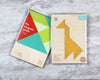 Giraffe tangram puzzle in packaging