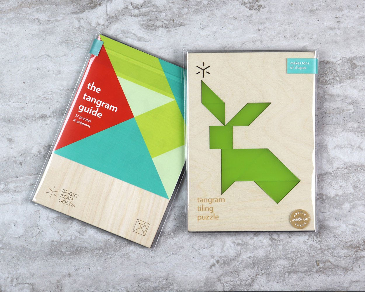 Rabbit tangram puzzle in packaging