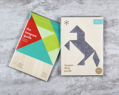 Stallion tangram puzzle in packaging