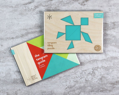 Sea turtle tangram puzzle in packaging