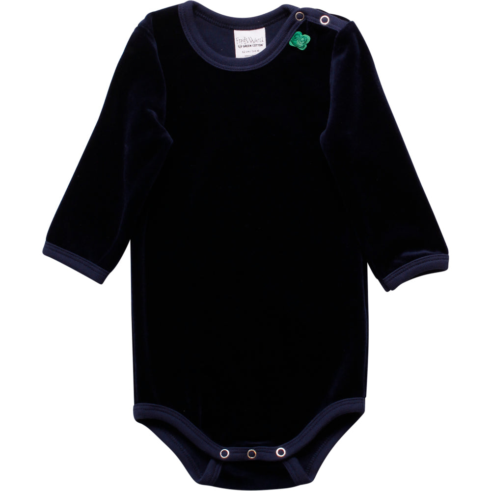 Fred´s world by green cotton Body Samt blau