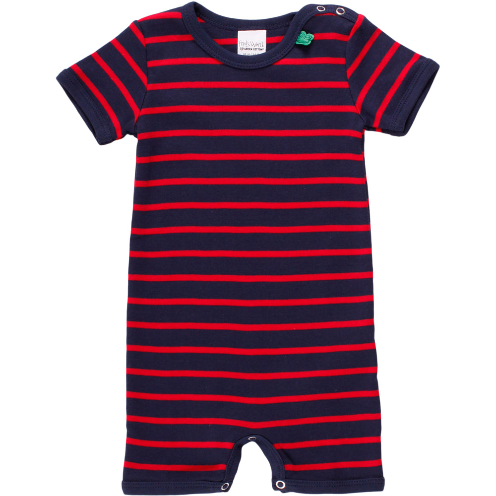 Fred´s World by green cotton Spieler Streifen navy/rot