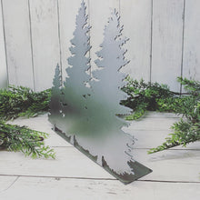 Load image into Gallery viewer, Metal Rustic Christmas Trees Shelf Sitter | CH10011