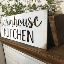 Load image into Gallery viewer, Rusty White Farmhouse Kitchen | Metal Cutout Sign - KB1001