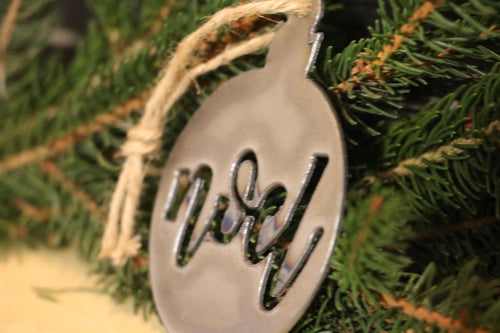 Noel Ball Ornament | Metal Christmas Tree Ornament - CHO1003