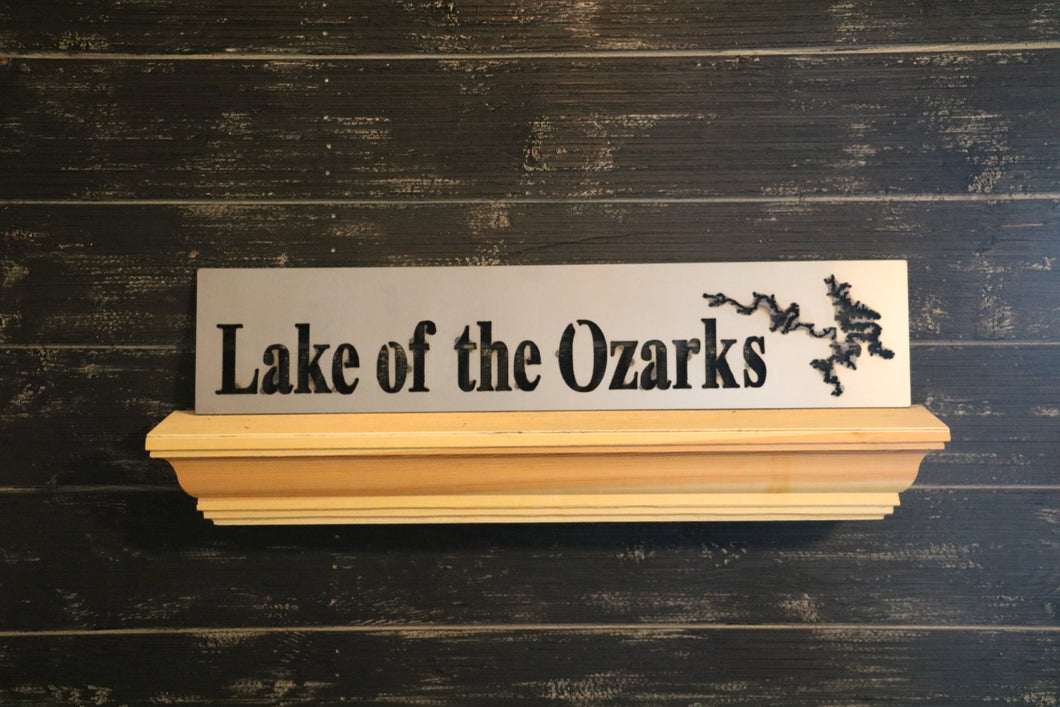 Lake Map Rectangle | Metal Lake Cutout Sign - LK1005