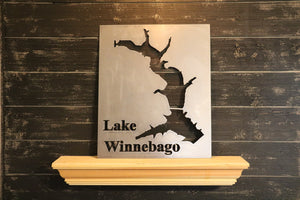 Custom Lake Map of Your Choice | Metal Cutout Sign | LK1002