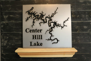 Lake Map Large - Metal Cutout Sign