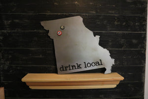 "Metal ""drink local"" Magnet Board Sign 