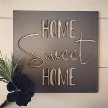 "Load image into Gallery viewer, ""home SWEET home"" Metal Cutout Sign HOD1002"