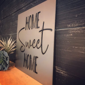 """home SWEET home"" Metal Cutout Sign HOD1002"