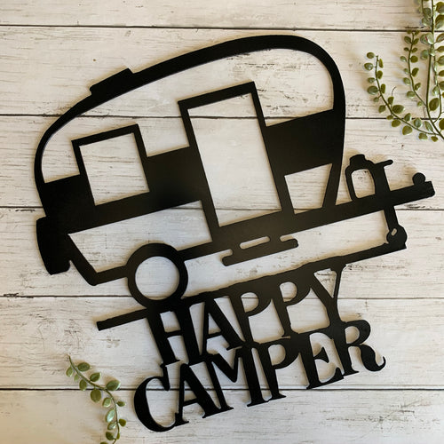 Happy Camper | Metal Cutout Sign - HOD1015