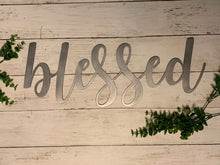 Load image into Gallery viewer, Farmhouse Script Word | Cursive Metal Cutout Decor - HOD1004