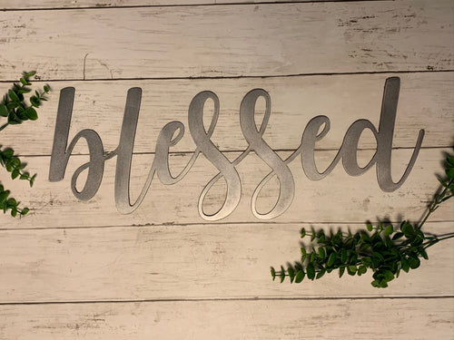 Farmhouse Script Word | Cursive Metal Cutout Decor - HOD1004