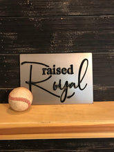 Load image into Gallery viewer, Raised Royal Metal Cutout Baseball Sign