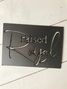 Raised Royal Metal Cutout Baseball Sign