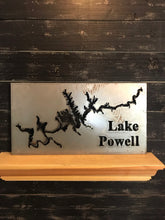 Load image into Gallery viewer, Custom Lake Map of Your Choice | Metal Cutout Sign