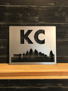 KC Skyline Square | Metal Cityscape Sign - KC1006