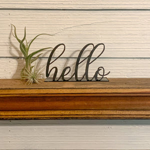 Shelf Words - Cursive Script | Metal Shelf Decor - SD1018