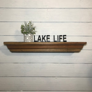 Shelf Words - Lake Life | Metal Shelf Decor - SD1015