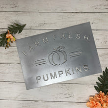 Load image into Gallery viewer, Farm Fresh Pumpkins | Metal Cutout Sign - FA1005
