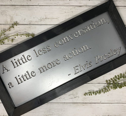 Framed Custom Song Lyrics | Metal Cutout