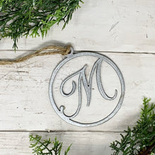 Load image into Gallery viewer, Monogram Metal Ornament | CHO1011 | Personalized Christmas Ornament