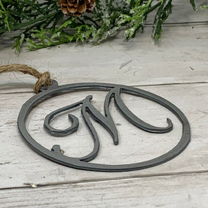 Monogram Metal Ornament | CHO1011 | Personalized Christmas Ornament